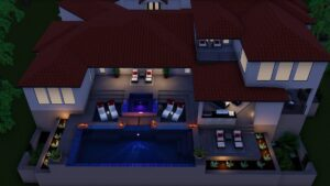 Image of 3D drawings for swimming pool construction.