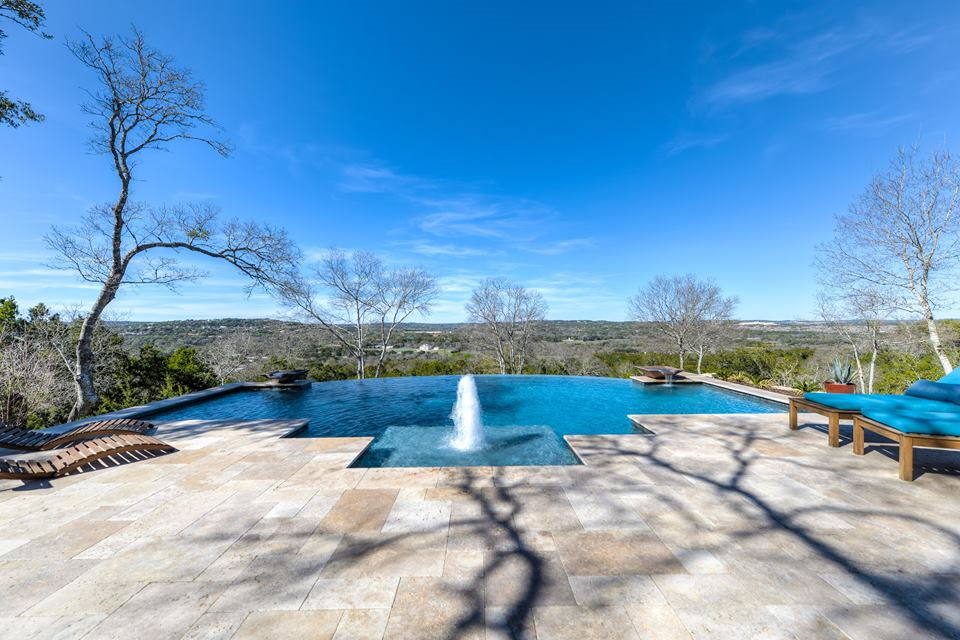 Modern Design Infinity Pool with fountain